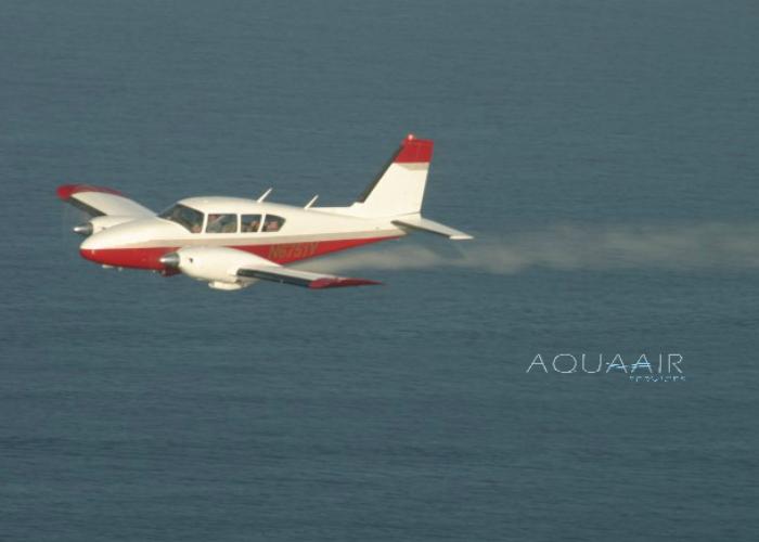 asverstrooiing per vliegtuig door aqua air services