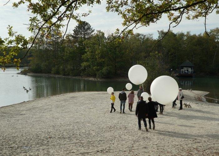 Ballonverstrooiing-centerparcs -westerhoven-aqua-air-services- as-heliumballon